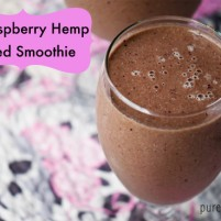 fig raspberry post workout smoothie recipe