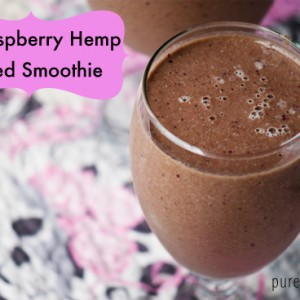 fig raspberry protein post workout smoothie