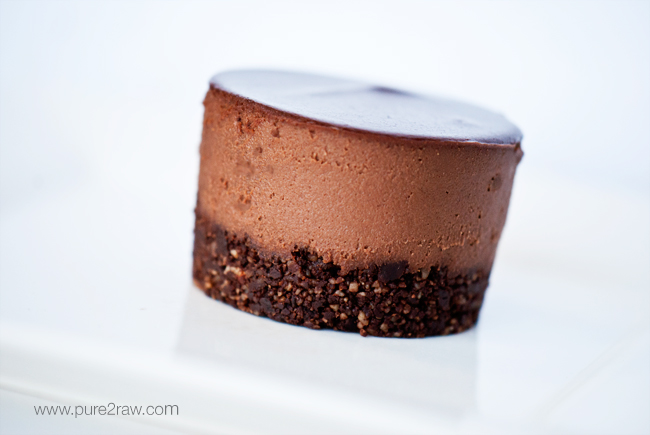 RAW TRIPLE CHOCOLATE CREAM CAKE - very chocolately, smooth and delectable with every bite! Naturally gluten and grain-free. Paleo. This chocolate cream cake is loved by everyone!