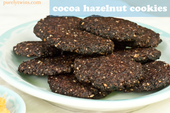 hazelnut chocolate vegan grain free cookies