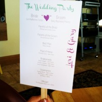 making my own wedding ceremony program