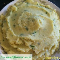 Dairy free cauliflower mash recipe