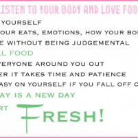 learning to listen to your body and love food again