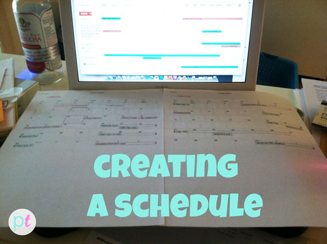 ideas for creating a schedule