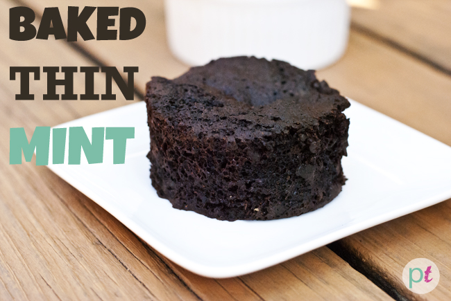 single serving baked thin mint cake