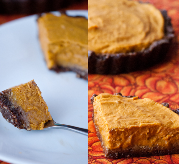 chocolate pumpkin pie vegan