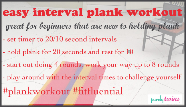 Easy interval plank workout for beginners