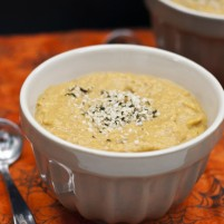 roasted butternut squash pear ginger hemp seed soup recipe