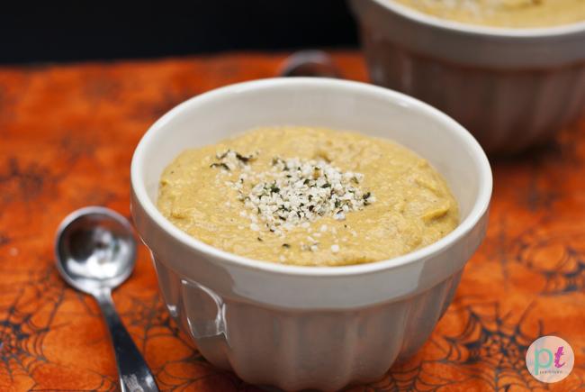 roasted butternut squash pear ginger hemp seed soup recipe