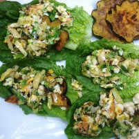 stuffed romaine leaves