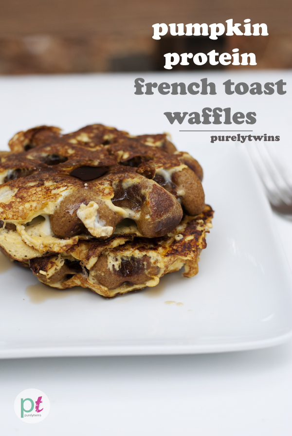 Gluten-free pumpkin french toast waffles recipe.This breakfast idea is full of fiber and lots of protein! Who can resist the aroma of freshly baked waffles in the morning with sticky sweet maple syrup?