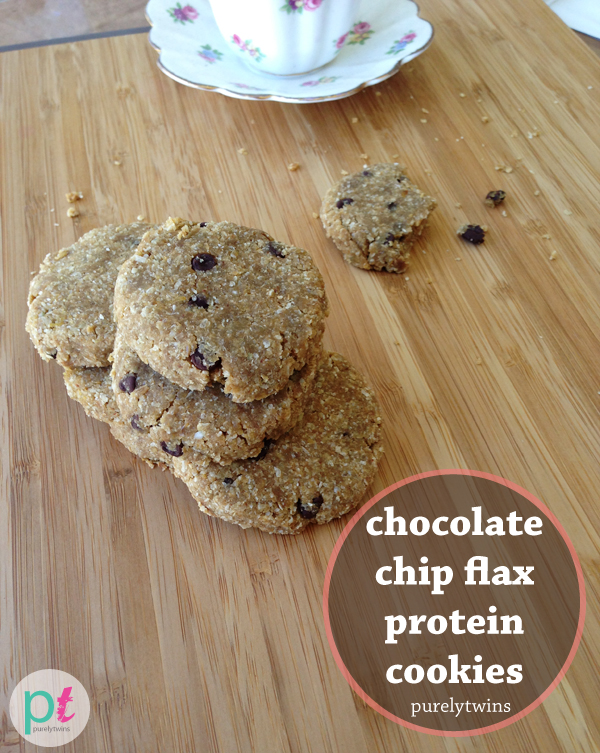 chocolate chip protein flax cookies