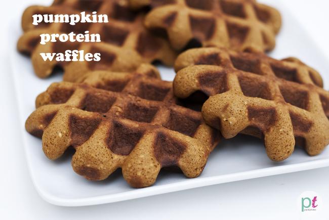 pumpkin protein french toast waffles (gluten-free, dairy-free)