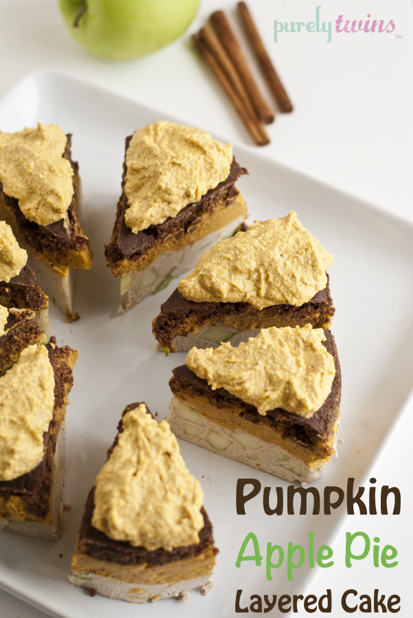 raw apple pumpkin pie cake from @purelytwins