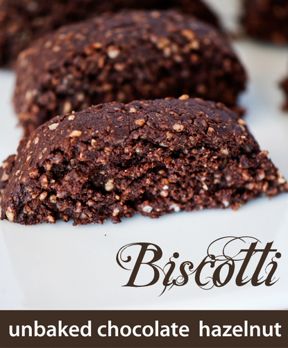 raw chocolate biscotti