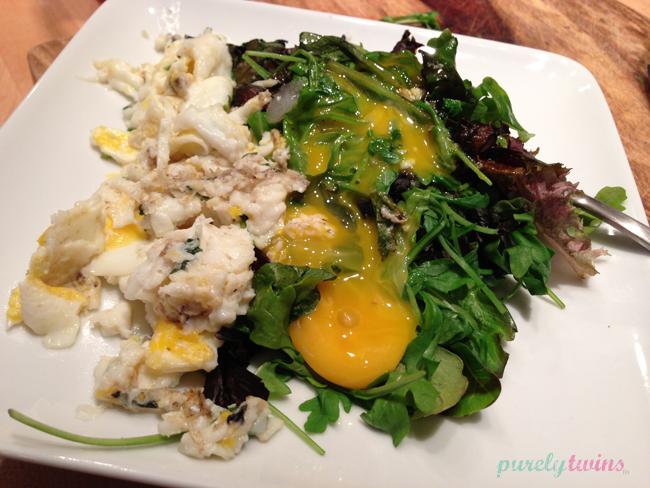 egg-arugula