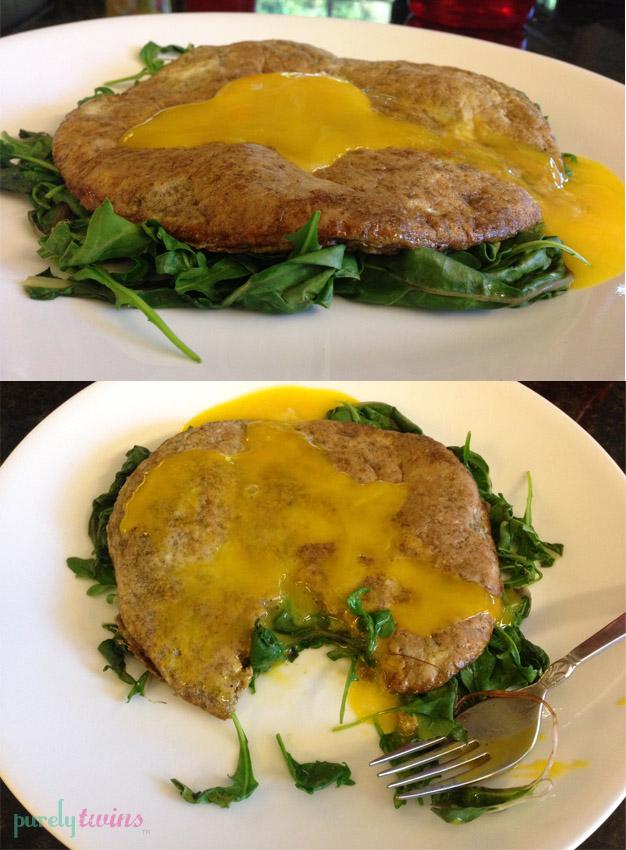 kale egg pancake