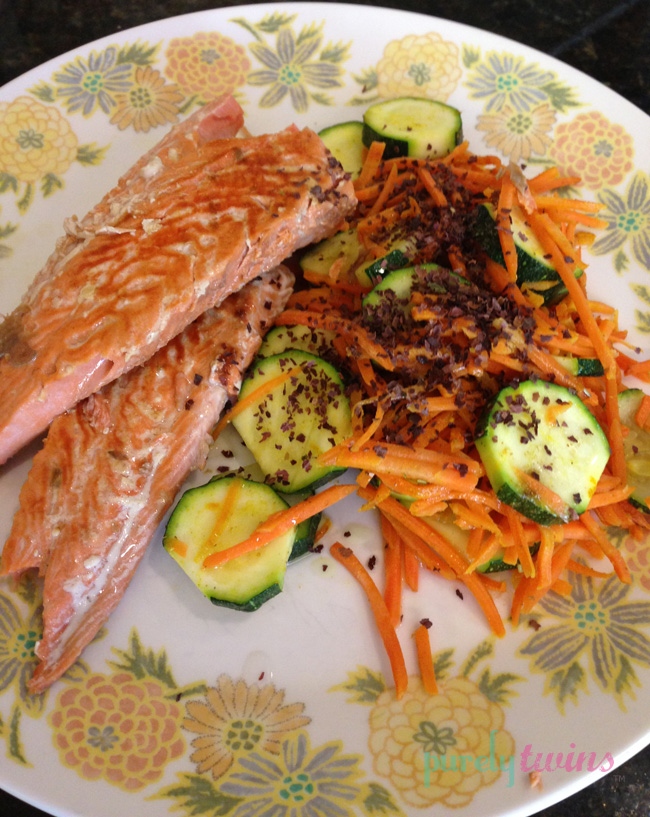 salmon carrots zucchini