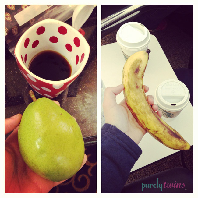 pear banana coffee