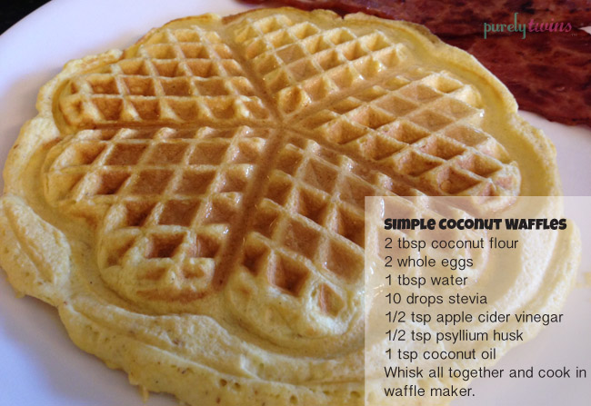 Waffles = sooooooo good! I enjoyed my coconut waffle with 2 slices of ...