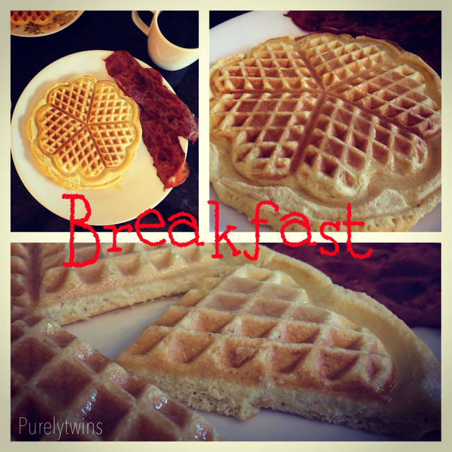 waffle breakfast
