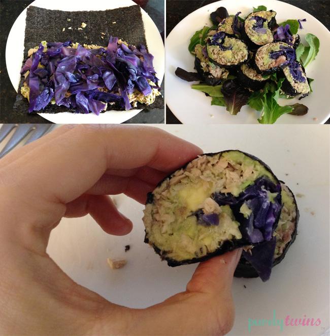 cabbage tuna nori wrap