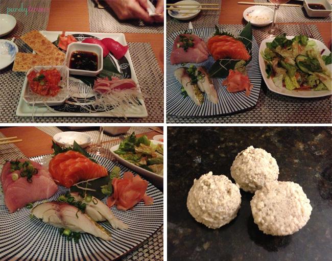 sushi dinner and dessert