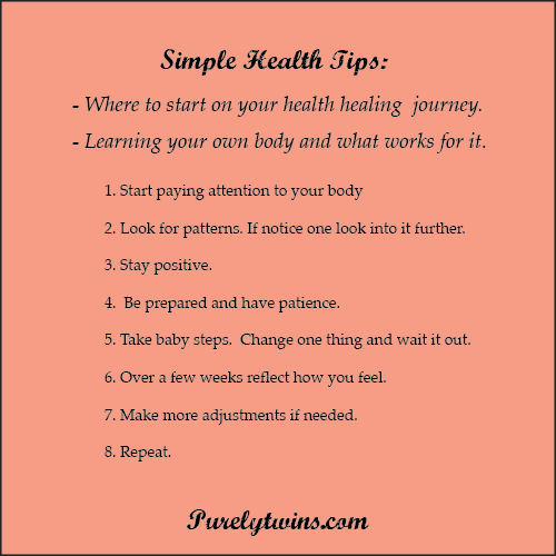 first steps to start healing from purelytwins