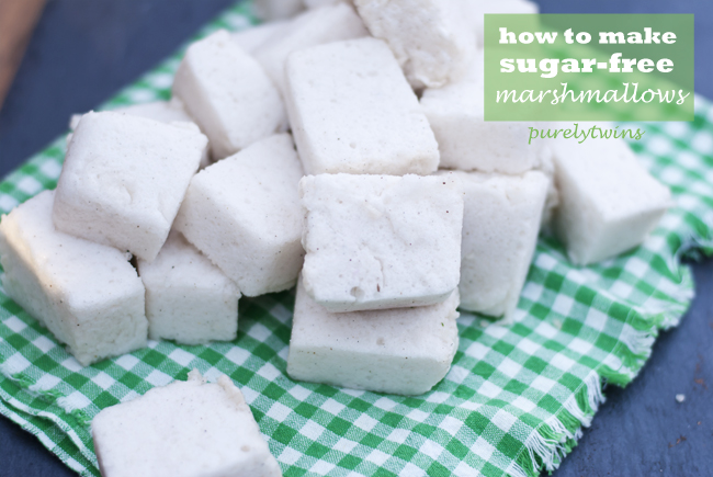 how to make {sugar-free} vanilla marshmallows