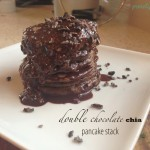 double chocolate chia protein pancakes (single serving)
