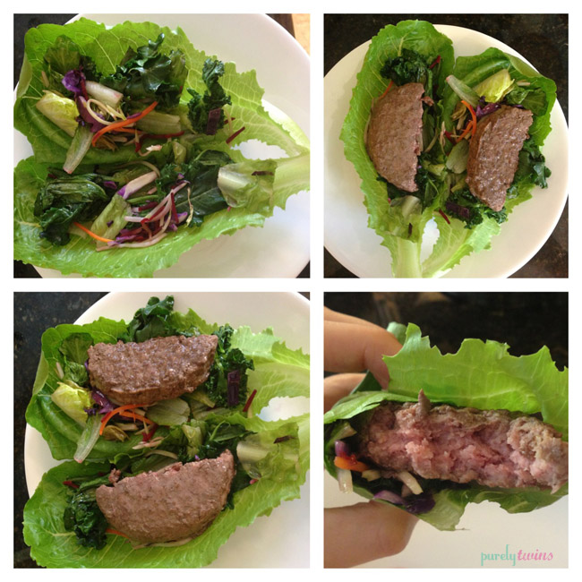 grass-fed beef romaine wrap