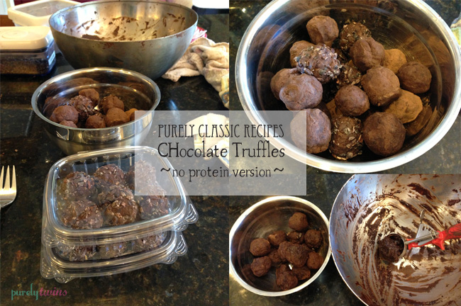 making chocolate truffles