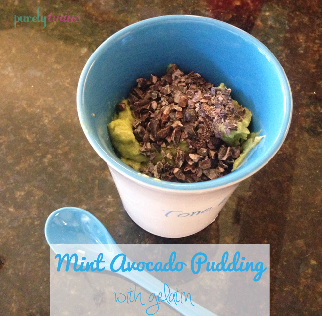 mint avocado pudding