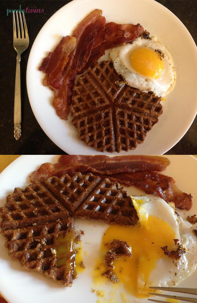 waffle egg breakfsat