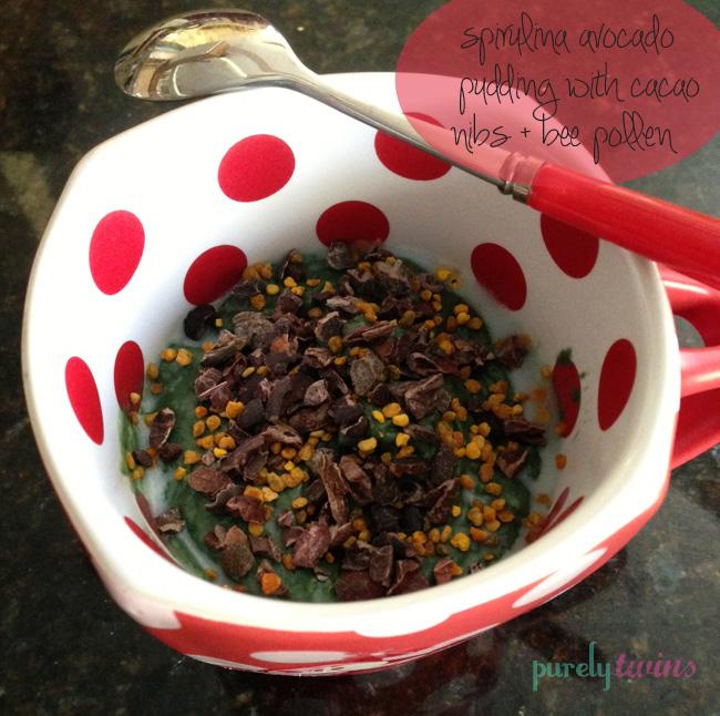 bee pollen avocado pudding