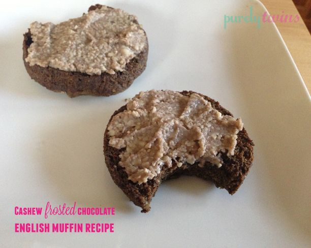 cashew frosting chocolate english muffin copy