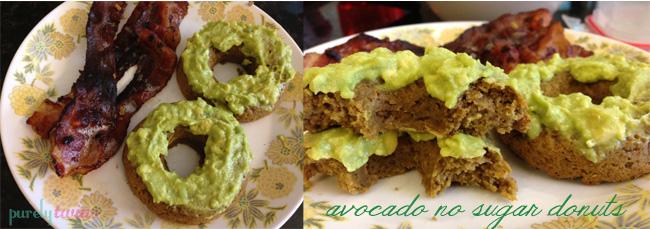 vegan avocado donut breakfast