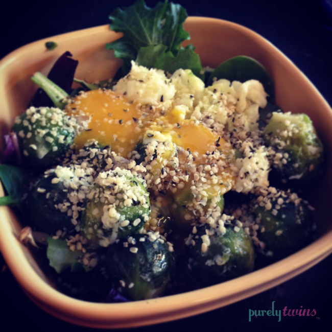 egg brussel sprout bowl