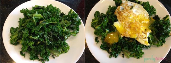 egg kale salad