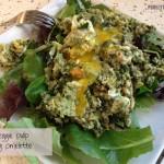 making veggie leftover pulp omelette