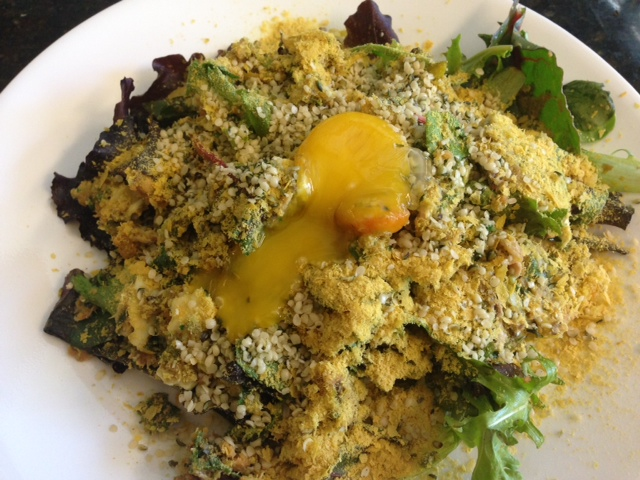 egg yolk hemp seed salad