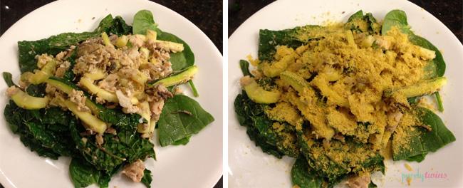 fish kale dinner
