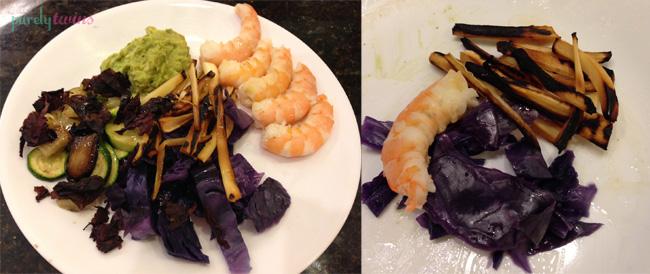 grilled shrimp veggies