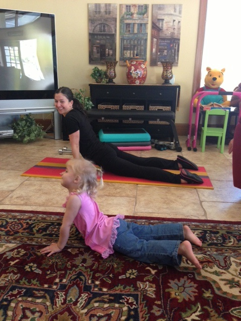 joy and michelle downward dog
