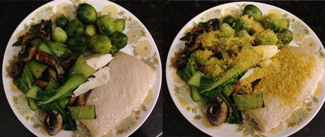 mahi veggie dinner