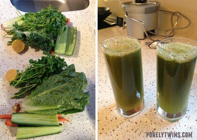 making-green-juice
