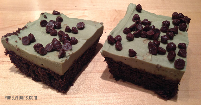 mint fudge brownies