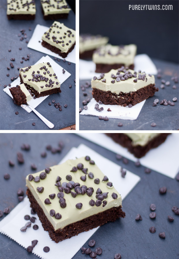 mint fudge egg free brownies
