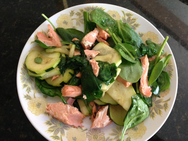 salmon lunch salad
