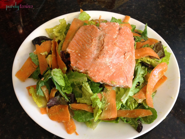 salmon salad avocado